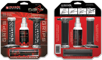 RISK RACING FUSION GRIP TECH DUAL COMPOUND GRIPS Aftermarket Part