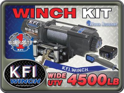 Wide 4000lb Winch