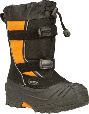 BAFFIN EIGER YOUTH BOOTS BLACK ORANGE SZ 7 Aftermarket Part