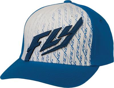 FLY RACING FELT HAT BLUE WHITE L-X Aftermarket Part