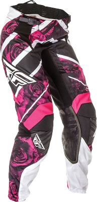 FLY RACING KINETIC LADIES RACE PANT PINK WHITE SZ 11 12 Aftermarket Part