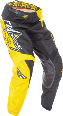 FLY RACING KINETIC ROCKSTAR PANT YELLOW BLACK SZ 38 Aftermarket Part
