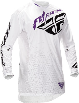 FLY RACING LITE HYDROGEN JERSEY WHITE X Aftermarket Part