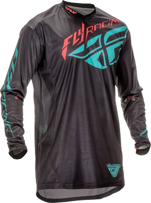 FLY RACING LITE HYDROGEN JERSEY BLACK TEAL 2X Aftermarket Part