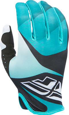 FLY RACING LITE GLOVE BLACK WHITE TEAL SZ 5 YM Aftermarket Part