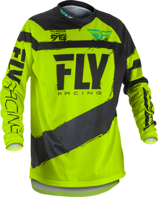 FLY RACING F-16 JERSEY BLACK/HI-VIS MEDIUM 371-929M