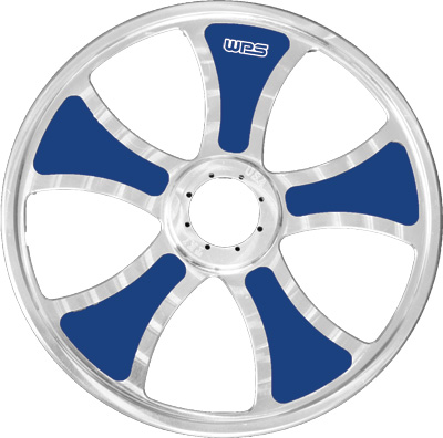 TKI LIMITED BILLET WHEEL INSERTS BLUE 8 10 PK Aftermarket Part