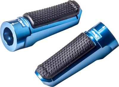 PUIG FOOTPEGS RACING RUBBER BLUE Aftermarket Part