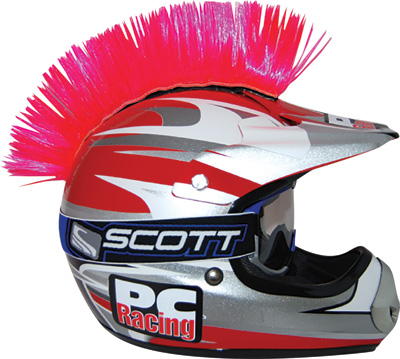 QUAD ATV DIRT STREET BIKE HELMET MOHAWK PINK  Helmet Not IncludedPink Mohawk Helmet