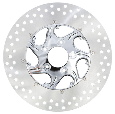 HARDDRIVE 2PC FRONT RIGHT FLOW DISC (CHROME) Aftermarket Part