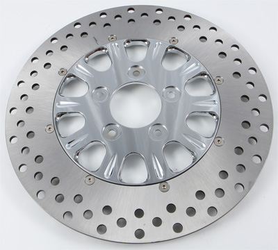HARDDRIVE 2PC FRONT RIGHT LUCK DISC (CHROME) Aftermarket Part