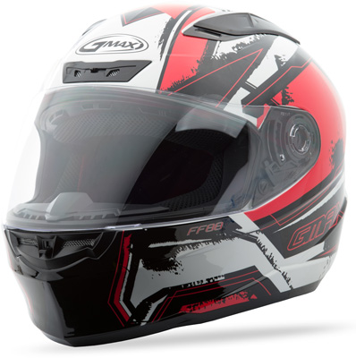 GMAX FF88 FULL FACE X-STAR HELMET WHITE RED X Aftermarket Part