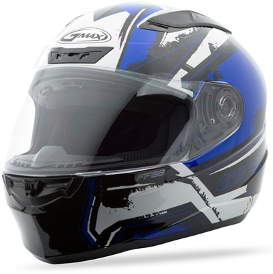 GMAX FF88 FULL FACE X-STAR HELMET WHITE BLUE 3X Aftermarket Part