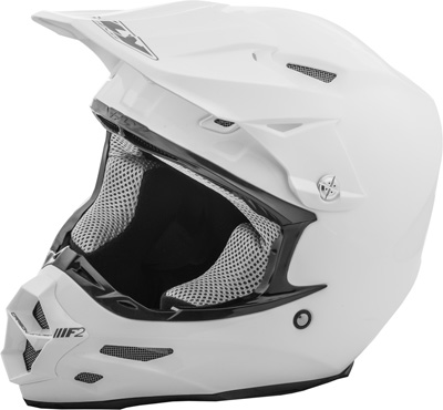 FLY RACING F2 CARBON SOLID HELMET WHITE X Aftermarket Part