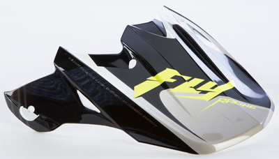 FLY RACING F2 CARBON FASTBACK VISOR (BLACK WHITE) Aftermarket Part