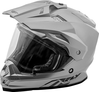 FLY RACING TREKKER SOLID HELMET SILVER 2X Aftermarket Part
