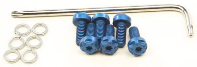 TBR ENDCAP BOLT KIT BLUE Aftermarket Part