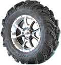 MUD LITE XTR WHEEL KIT SS108 M ACHINED 27X11-14
