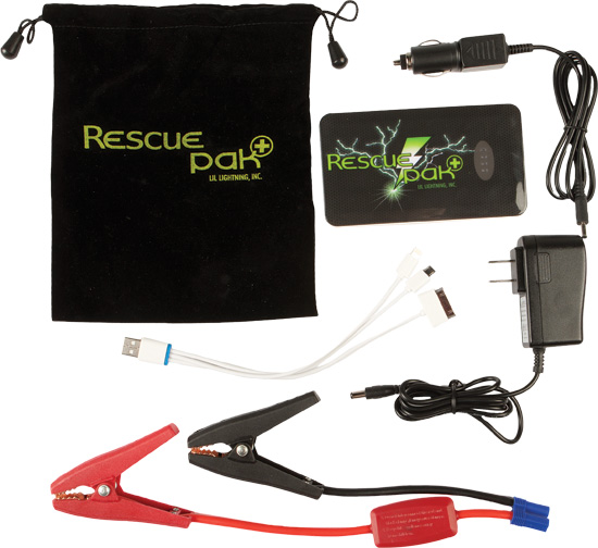 Don't get caught stranded with a dead battery, the Lil Lighting Rescue Pak is LIGHTNING IN A B