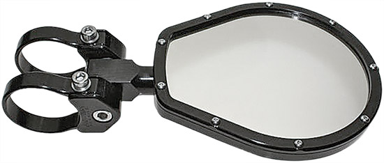 These rearview mirrors are slightly curved ONLY in the horizontal direction so that you get a nice w