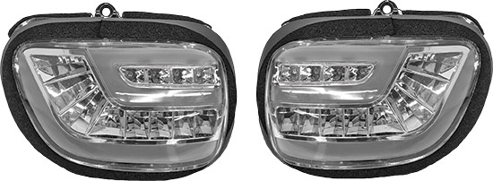 Dynamic sequential LED front turn signal assembliesDaytime running light for increased visibilityD.O
