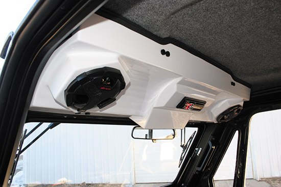 Comes with or with out Marine grade bluetooth speakersOffers additional storage inside the cab