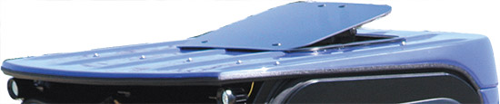 Automotive style sunroofPre-installed when ordered with top and rear panel kitSunroof size may vary