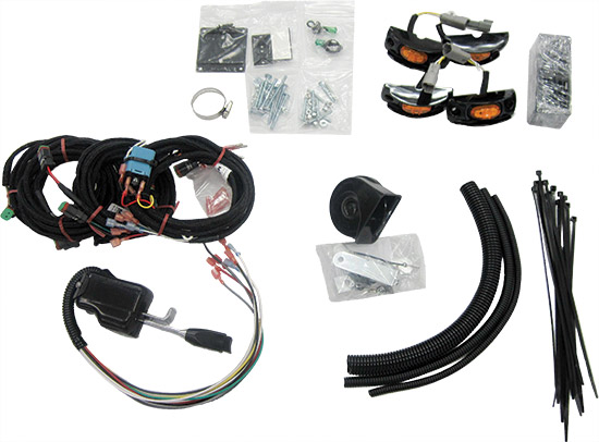 LED system with hornBraided harnesses for easier installation