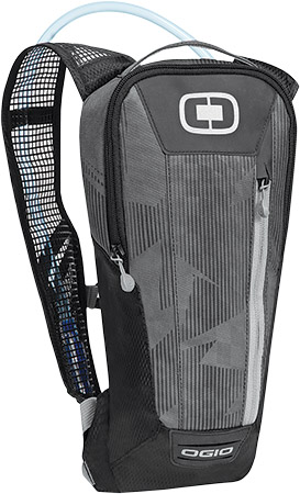 Rider specific ergonomic mesh shoulder strap with adjustable sternum strap and tube routing s