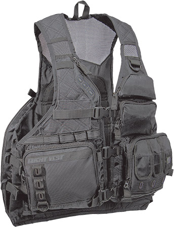 The ultimate utility vest with built-in hydrationHYDRAPAK reservoir bladder and drink s