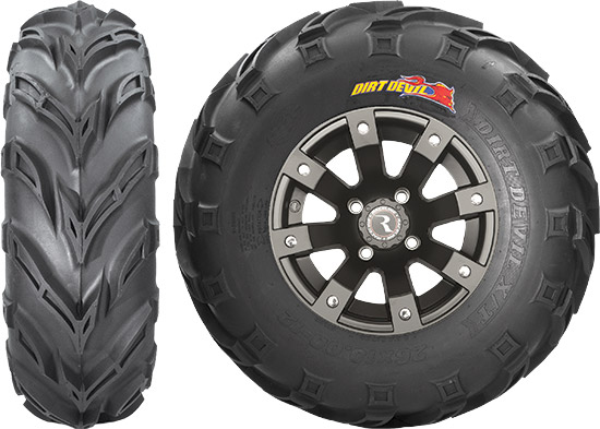 This 6-ply rated radial tire's compound was reformulated with more natural rubber for its elastic pr