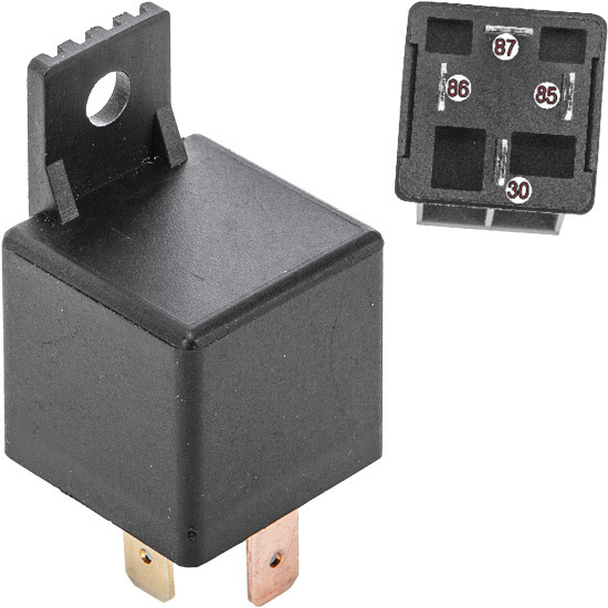 "12 Volt, 4 terminal, 40 amp electrical relayTerminal size: ¼"" (6.35 mm)Ideal for lighting, ho"
