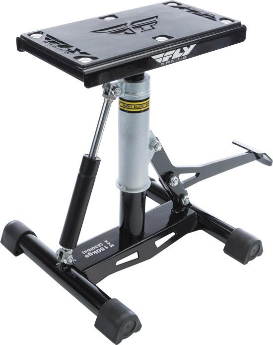 Height adjustable lift stand for dirt bikesRubber top grips bike frame to prevent slippageDesigned f