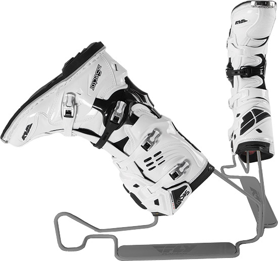 Stand designed for easy MX boot washingBoots are held upside down allowing for easy pressure washing