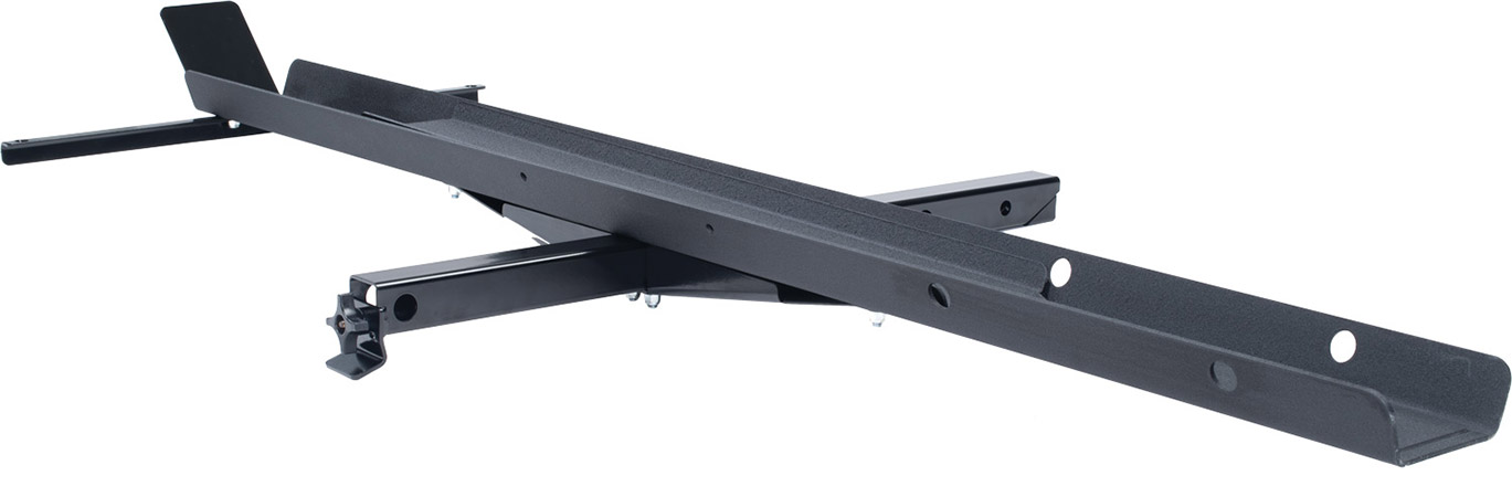 """Textured, powder coated 72"""" channel constructed from 3/16"""" SteelChannel support bracket constructed"""