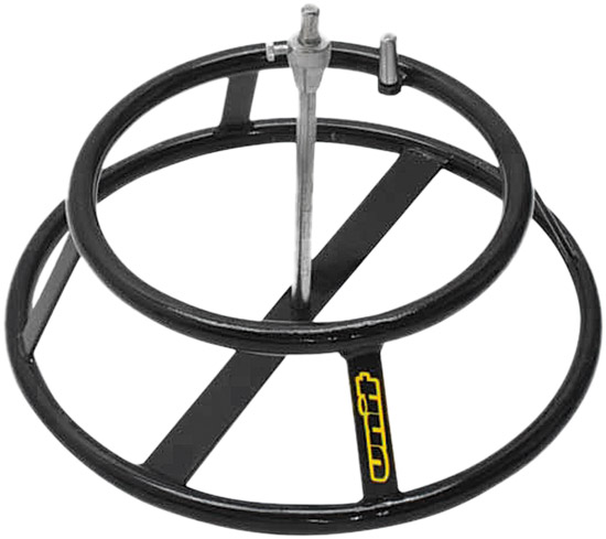 Tire changer stand for motorcycle tire changes.Holds your wheels secure during your tire removing an