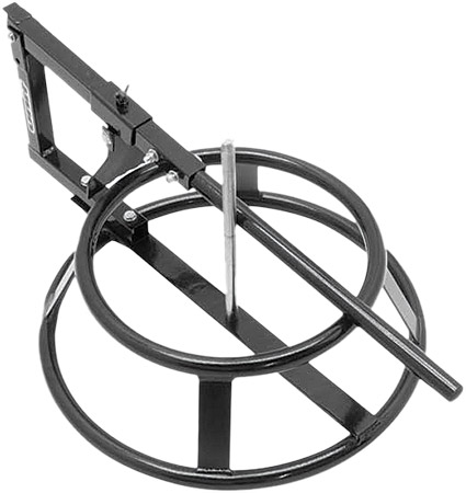 Tire changer stand comes with bead breaker.Easy to brake a bead with long operation bead breaker han