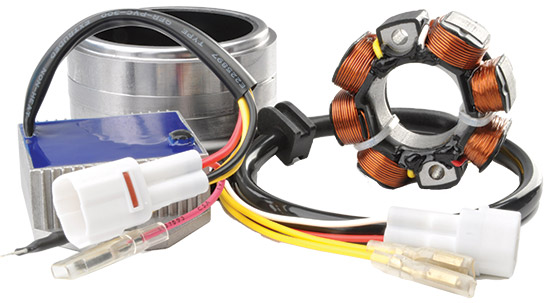 Stator Complete Electrical System KitsStator electrical system kits are complete electrical systems.