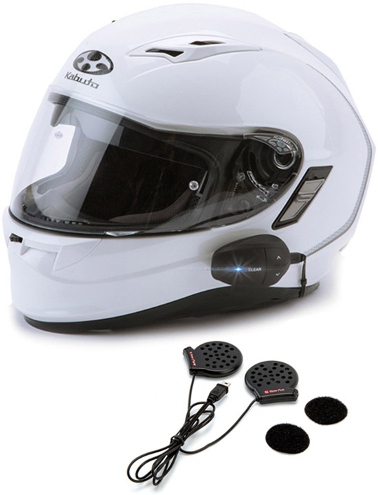 The UCLEAR AMP Go full-duplex Bluetooth® helmet audio system is ideal for single rider and small