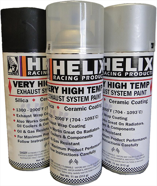 Silica ceramic formula disperses heat to maintain and protect the finish on pipesWithstands temperat