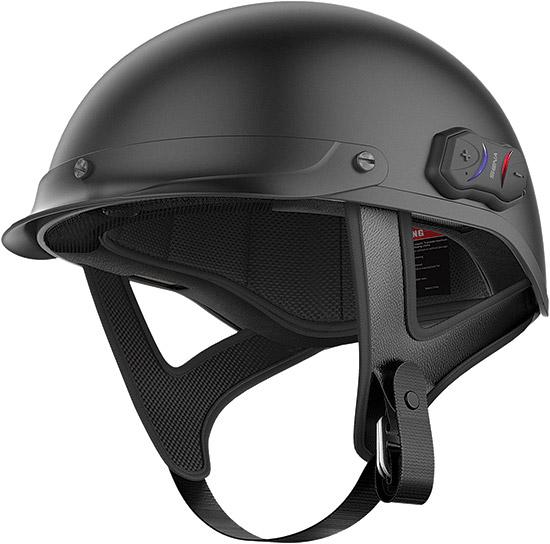 Helmet Information:DOT certifiedComposite fiberglass half shell constructionWeight- 2.2 lbs (3