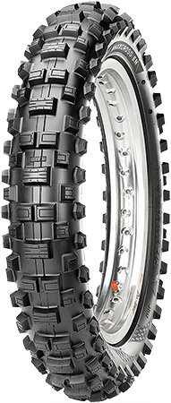 Tread pattern features widely spaced, large knobs that bite hard, shed mud and steer qu