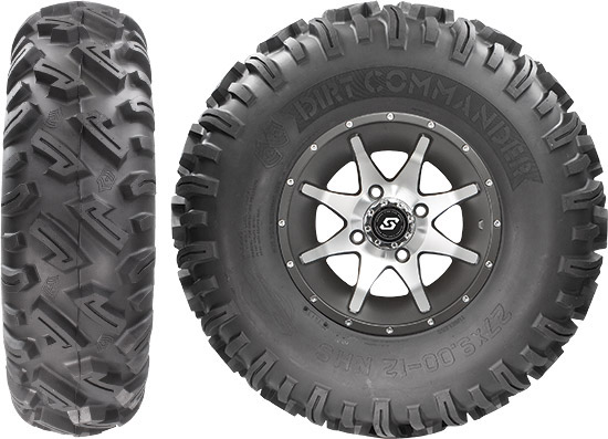 A super-tough, puncture-resistant 8-ply rated bias tire, the Dirt Commander offers the perfect lug d