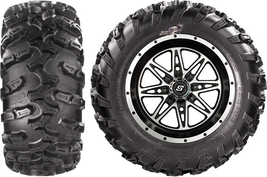 The Grim Reaper combines an aggressive, skeletal tread with deep, wrap-around shoulder lugs to give