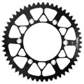 Anodized first then CNC machined from 7075 aluminum leaves you with a trick colored sprocket with si