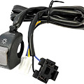 "Universal headlight switchFits 7/8"" handlebars16"" wire leads to switch, 27.5"" leads to headlight, in"