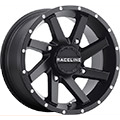 All Black finish8-Spoke designSize 14x74/110, 4/115, 4/137 and 4/156 bolt patternsTapered hole allow
