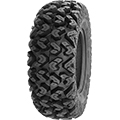 "•1 1/8"" deep aggressive tread pattern that cleans out well in mud and offers great traction in"