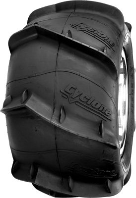 TIRE CYCLONE 20X11-10 LEFT REAR SAND PADDLE